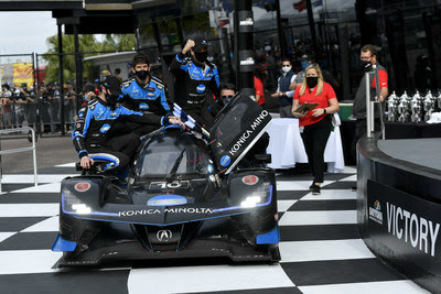 #10 Konica Minolta Acura ARX-05 Acura DPi, DPi: Helio Castroneves, Alexander Rossi, Filipe Albuquerque, Ricky Taylor winner
